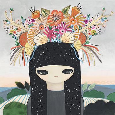 María José Seáñez - FloreSer 40 x 40 cm Acrílico sobre tela