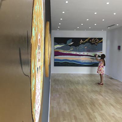 S/T, 40.5 x 57 cm, acrílico sobre tela y resina poliéster, 2017