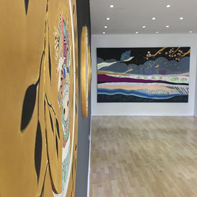 S/T, 40 . 5 x 57 cm, acrílico sobre tela y resina poliéster, 2017